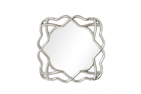 Зеркало Darian A88064-1 серебро купить в салоне-студии мебели Барселона mnogospalen.ru много спален мебель Италии классические современные