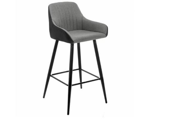 Барный стул Haris серый купить в салоне-студии мебели Барселона mnogospalen.ru много спален мебель Италии классические современные
